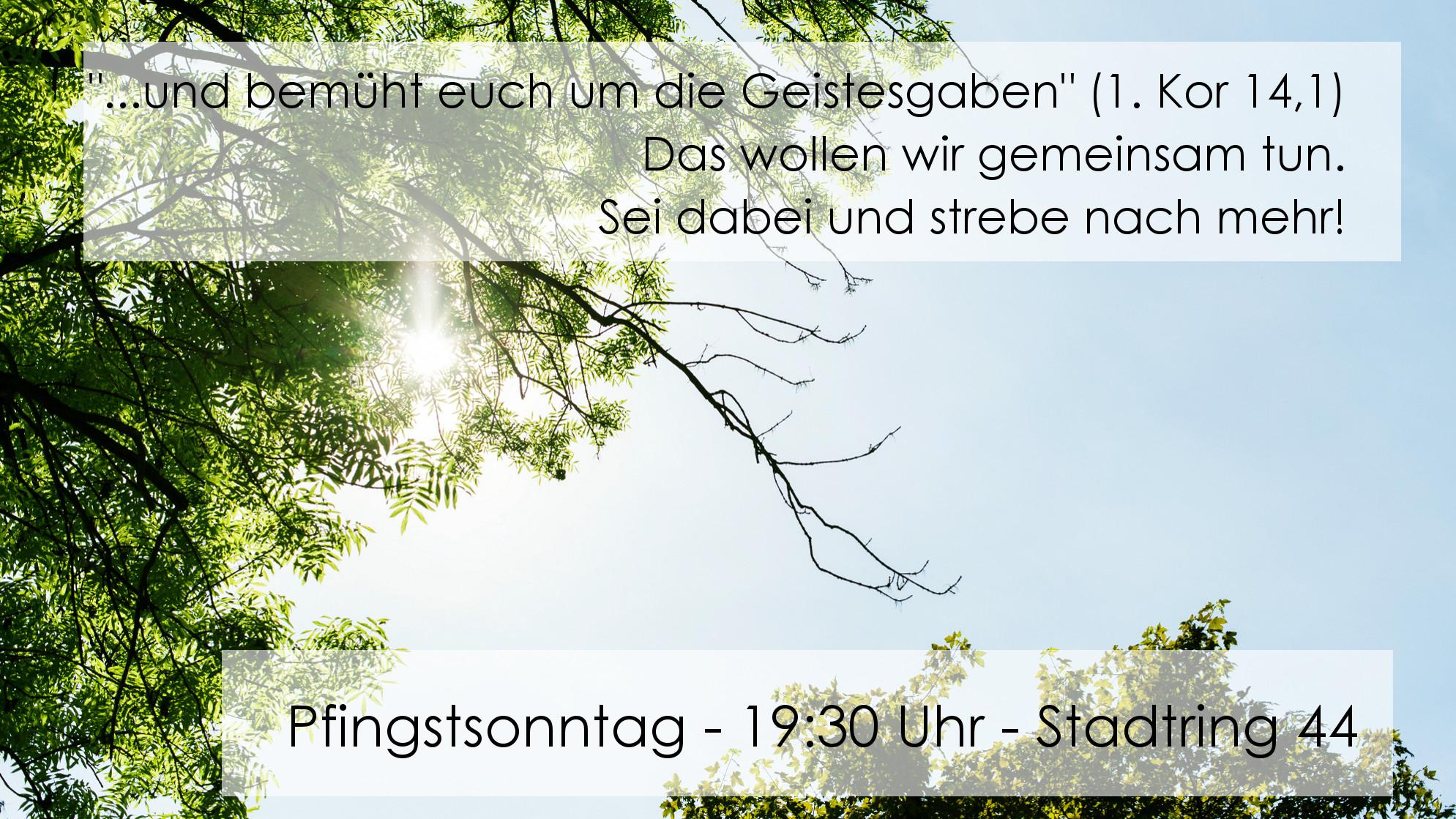 Banner-Pfingsten